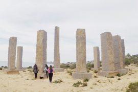Cala Llentia Columnas Piedra Ibiza