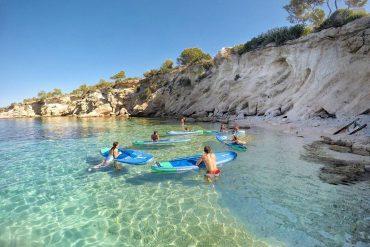 Paddel Surf en Cala Gració, San Antonio Ibiza